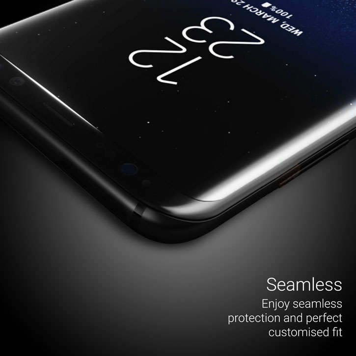 Olixar Samsung Galaxy S8 Plus Curved Glass Screen Protector - Clear