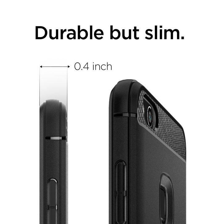 Spigen Rugged Armor Huawei P10 Lite Tough Case - Black