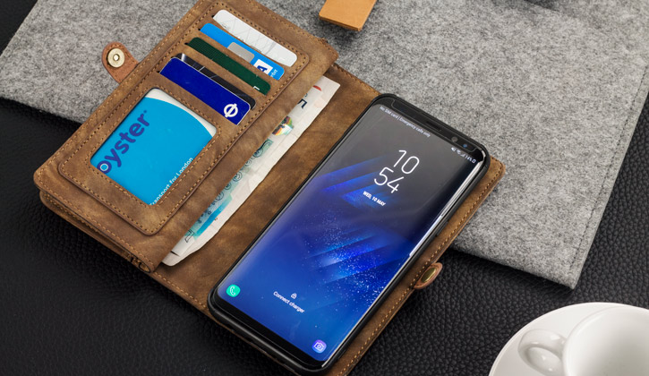 Your Own luxury samsung galaxy s8 leather style 3 in 1 wallet case tan Reply Reply