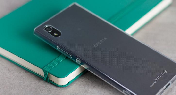 Coque Sony Xperia XA1 Roxfit Pro Ultra Slim Soft Shell – Transparente vue sur touches