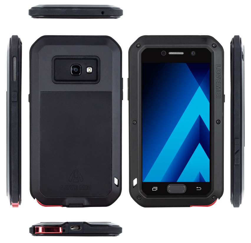 Love Mei Powerful Samsung Galaxy A5 2017 Protective Case - Black