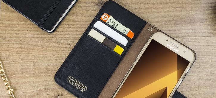 Hansmare Calf Samsung Galaxy A3 2017 Wallet Case - Golden Brown