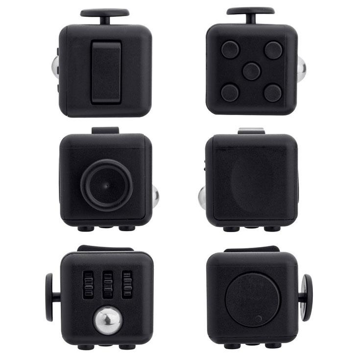 Olixar Fidget Cube Anti-Anxiety Stress Relief Toy - Black