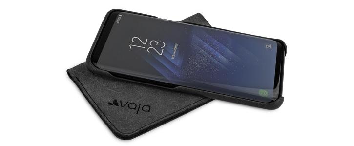 Vaja Grip Samsung Galaxy S8 Premium Leather Case - Black