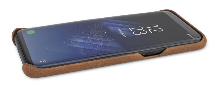 Vaja Grip Samsung Galaxy S8 Premium Leather Case - Brown