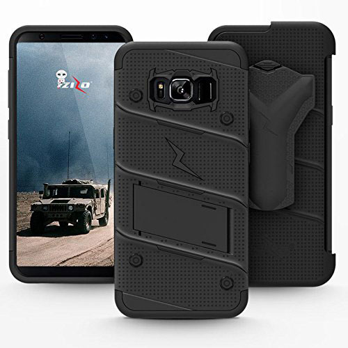 Zizo Bolt Series Samsung Galaxy S8 Plus Tough Case Hülle & Gürtelclip Schwarz