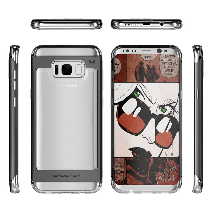 Ghostek Cloak 2 Samsung Galaxy S8 Aluminium Tough Case - Clear / Black