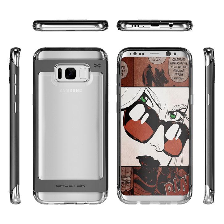 Ghostek Cloak 2 Samsung Galaxy S8 Plus Aluminium Case - Clear / Black