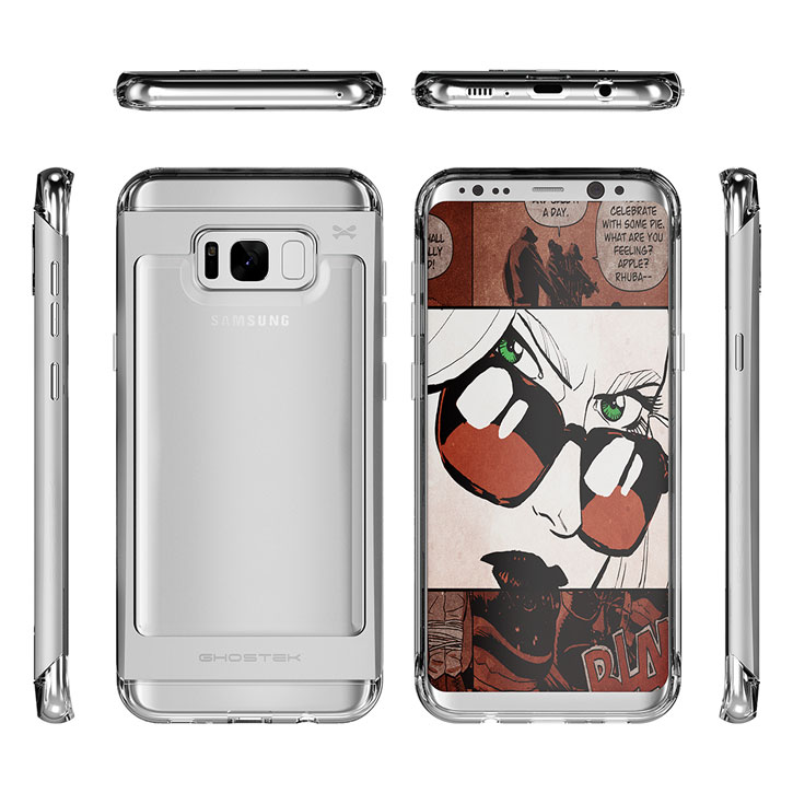 Ghostek Cloak Samsung Galaxy S8 Tough Case Hülle in Klar / Silber