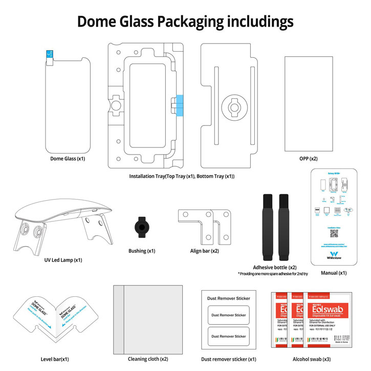 Whitestone Dome Glass Galaxy S8 Plus Full Cover Screen Protector