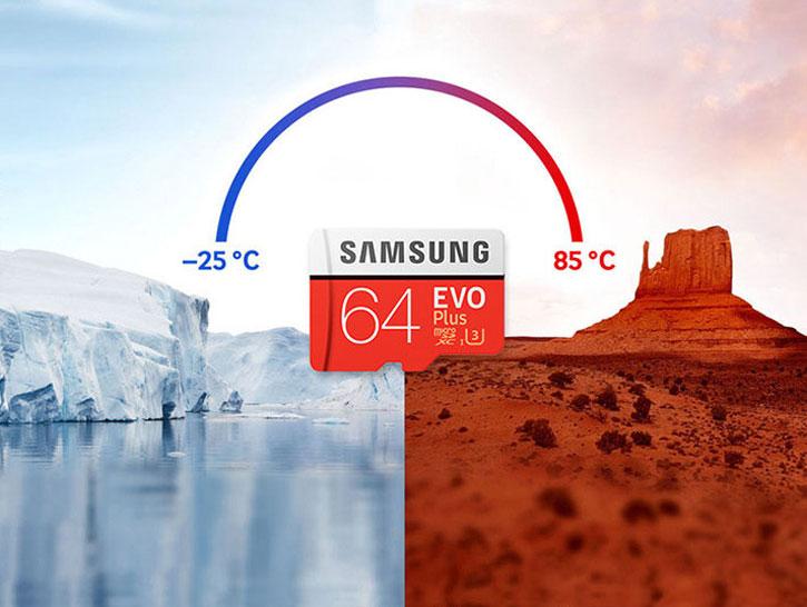Samsung 64GB MicroSDXC EVO Plus Minneskort med/ SD Adapter - Class 10