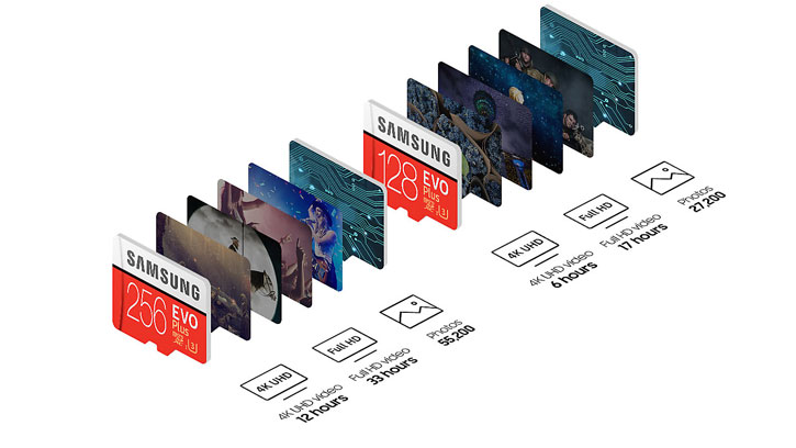Samsung 256GB MicroSDXC EVO Plus Minneskort med/ SD Adapter - Class 10