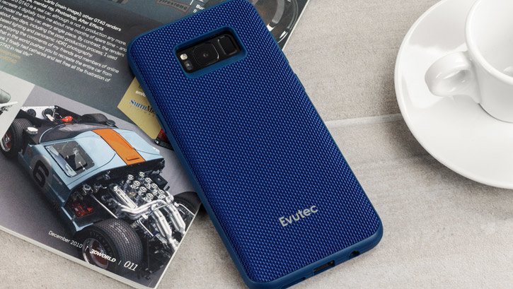 Evutec AERGO Ballistic Nylon Samsung Galaxy S8 Plus Tough Case - Blue