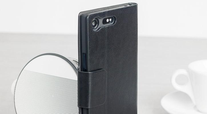 Olixar Leather-Style Sony Xperia XZ Premium Wallet Stand Case - Black