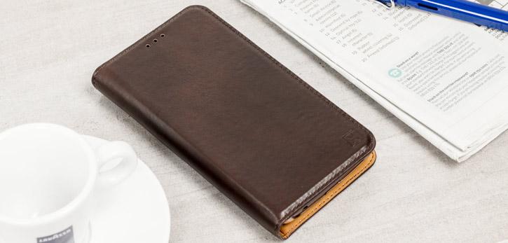 a1debf24428 Olixar Genuine Leather Motorola Moto G5 Executive Wallet Case - Brown