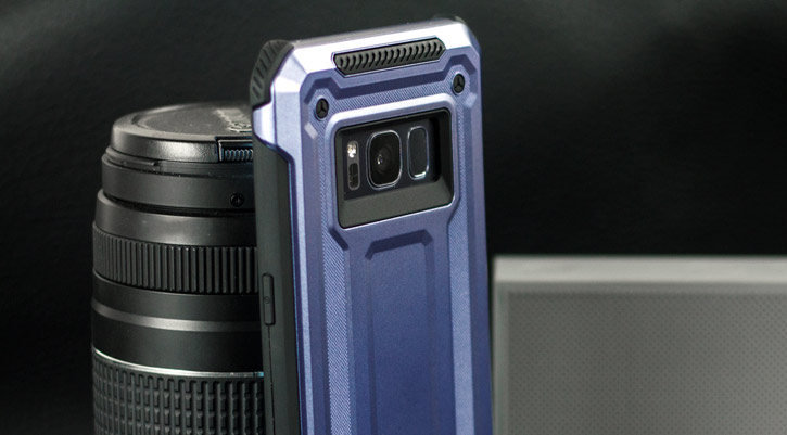 VRS Design Terra Guard Samsung Galaxy S8 Case - Dark Silver
