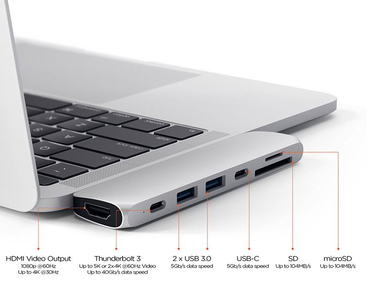 Hub USB-C Satechi Multiport Pro HDMI 4K & adaptateur USB – Argent