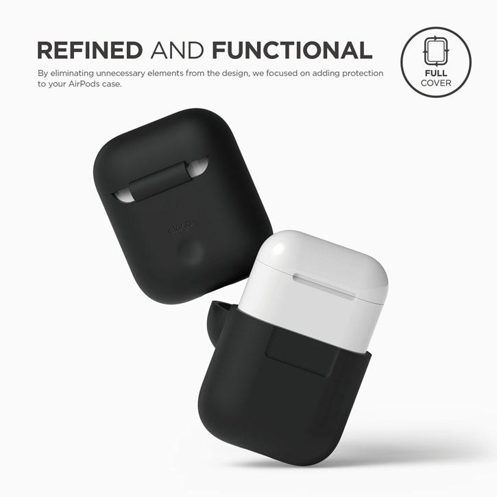 Elago Apple AirPods Protective Silicone Case - Black