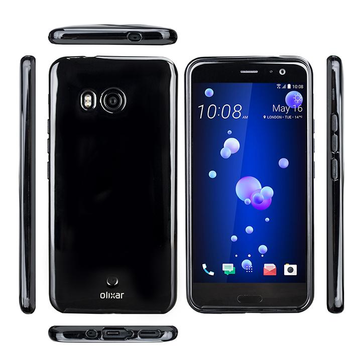 Olixar FlexiShield HTC U11 Gel Case - Solid Black
