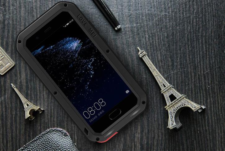 Love Mei Powerful Huawei P10 Plus Protective Skal - Svart