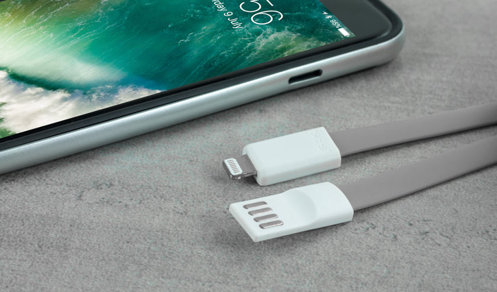 STK Short Lightning Magnetic Charge and Sync Cable - Grey