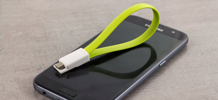 STK Short Micro USB Magnetic Charge and Sync Cable - Green