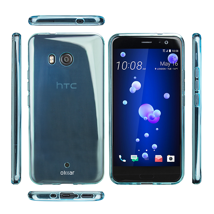 Olixar FlexiShield HTC U11 Gel Case - Blue