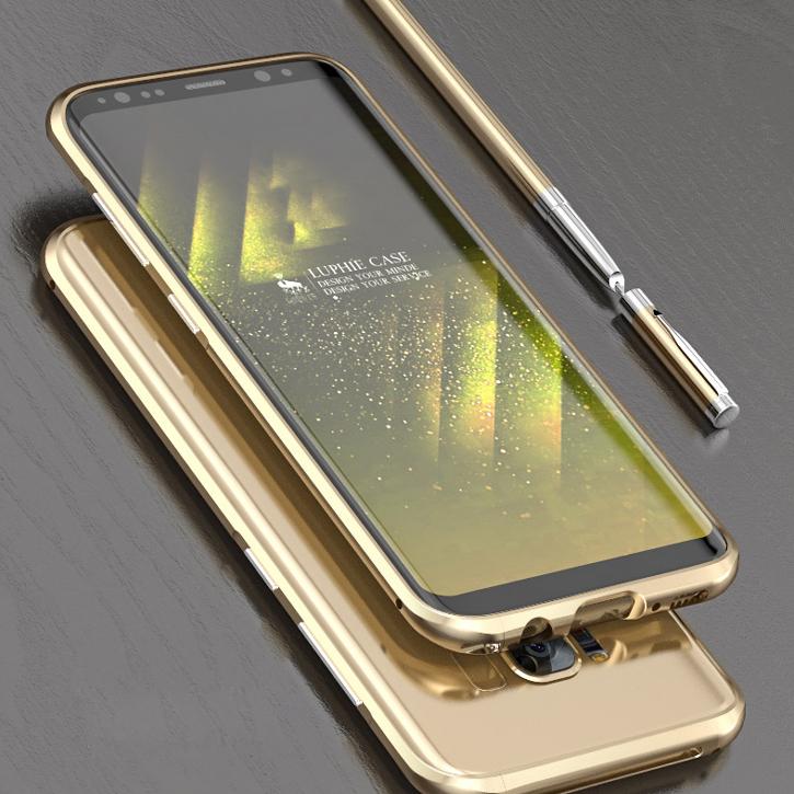 Luphie Blade Sword Samsung Galaxy S8 Aluminium Bumper Case - Black
