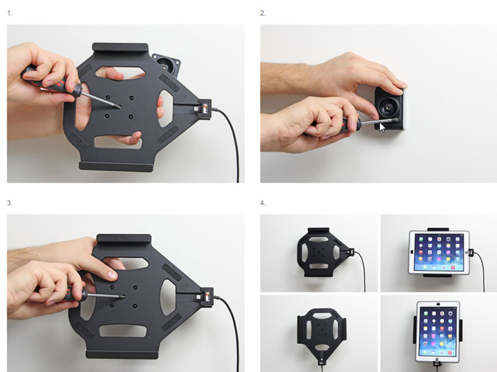 Brodit iPad 2017 Active Holder With Swivel & Cig-Plug