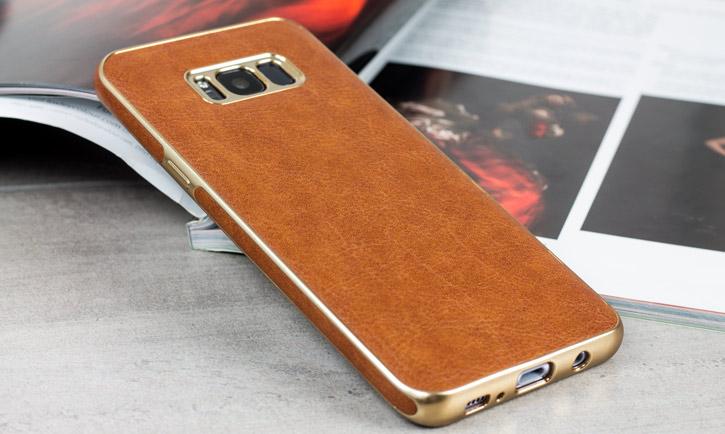 Olixar Makamae Leather-Style Samsung Galaxy S8 Case - Brown