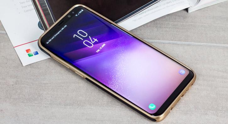 Olixar Makamae Leather-Style Samsung Galaxy S8 Plus Case - Black