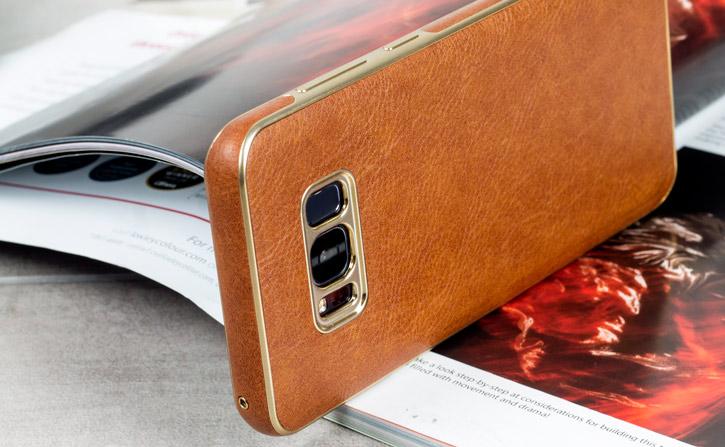 Olixar Makamae Leather-Style Samsung Galaxy S8 Plus Case - Brown