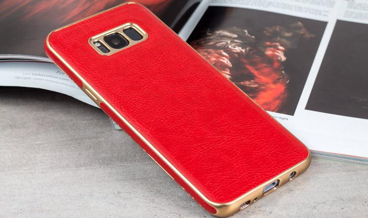 Olixar Makamae Leather-Style Samsung Galaxy S8 Plus Case - Red