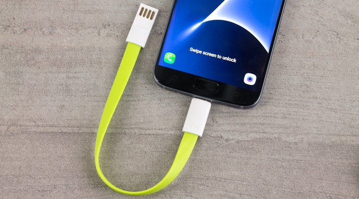 STK Short Micro USB Magnetic Charge and Sync Cable - 2 Pack