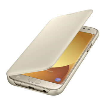 Official Samsung Galaxy J5 2017 Wallet Cover Case - Gold