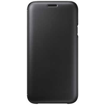 Official Samsung Galaxy J3 2016 Flip Wallet Cover - Black