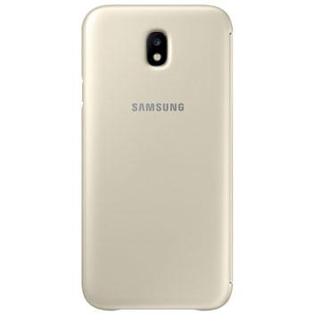Official Samsung Galaxy J3 2016 Flip Wallet Cover - Black