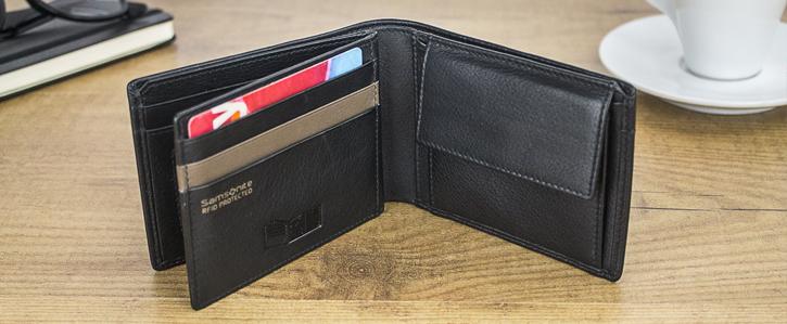 Samsonite S-Pecial Genuine Leather RFID Blocking Wallet - Black