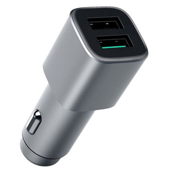 Official Nokia Dual USB Qualcomm Quick Charge 3.0 Car Charger - Silver