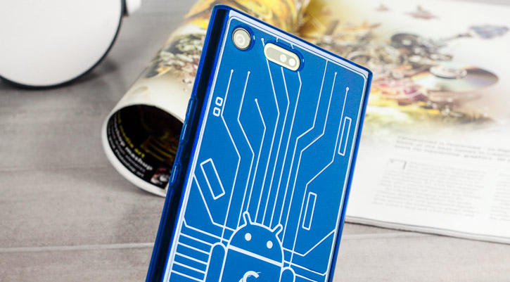 Cruzerlite Bugdroid Circuit Sony Xperia XZ Premium Case - Blue
