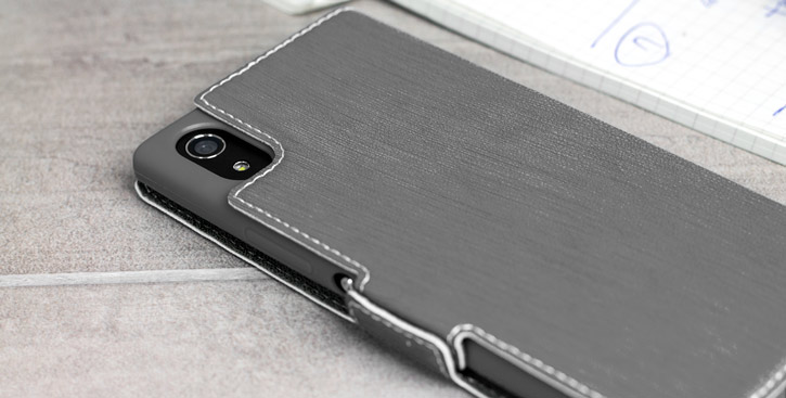 Olixar Low Profile Sony Xperia XA1 Wallet Case - Grey