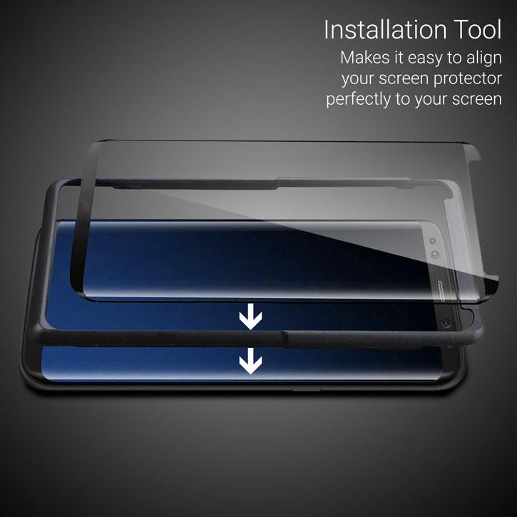 Olixar Galaxy S8 Plus EasyFit Case Compatible Glass Screen Protector