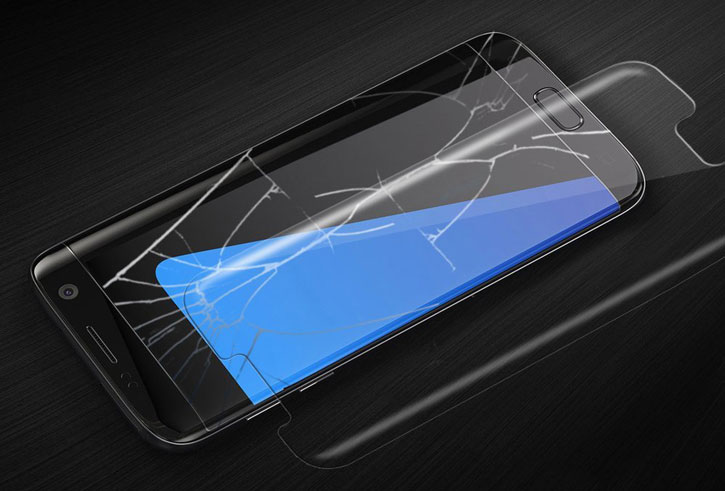 Whitestone Dome Glas Samsung Galaxy S7 Edge Vollabdeckender Display Schutz