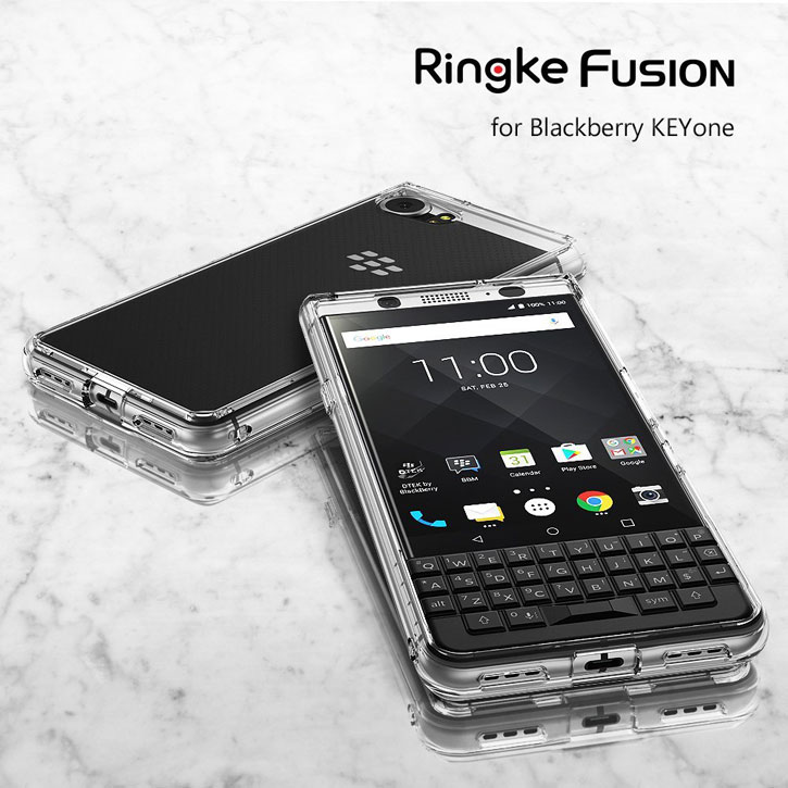Rearth Ringke Fusion BlackBerry KEYone Skal - Röksvart