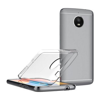 Official Motorola Moto E4 Gel Case - Clear