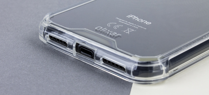 Coque iPhone X Olixar ExoShield Snap-on – Transparente vue sur ports