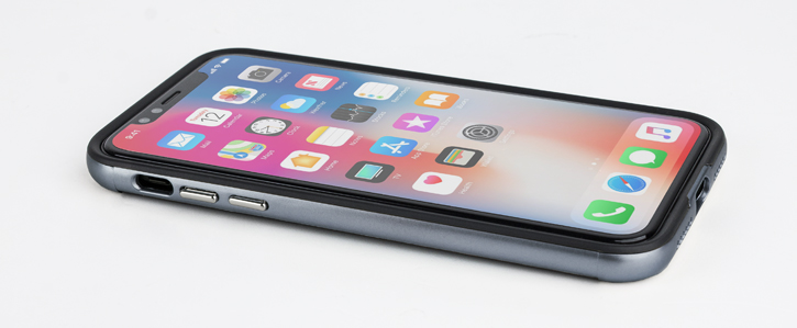 Olixar X-Duo iPhone X Case - Carbon Fibre Metallic Grey