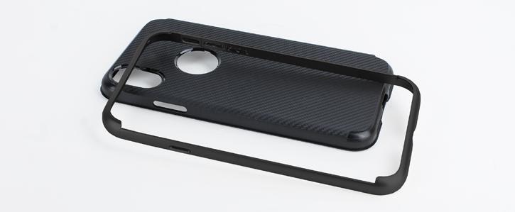 Olixar X-Duo iPhone X Case - Carbon Fibre Jet Black