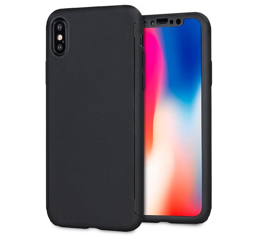 Olixar XTrio Full Cover iPhone X Case & Screen Protector - Black