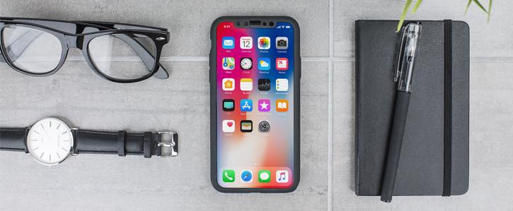 Olixar X-Trio Full Cover iPhone X Case - Black